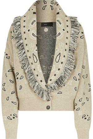 ALANUI Cardigan Bandana in jacquard di lana e cashmere