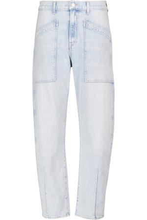 Veronica Beard Jeans cropped Charlie a vita alta