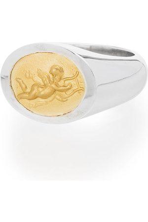 Shola Branson Uomo Anelli - Anello in sterling silver e oro 14kt Cupid