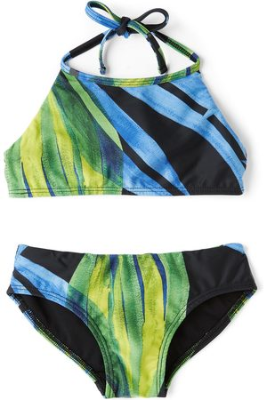Louisa Ballou SSENSE Exclusive Kids Black & Green Halter Bikini
