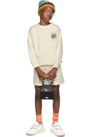 Kids Worldwide SSENSE Exclusive Kids Beige 'Save The World' Sweatshirt