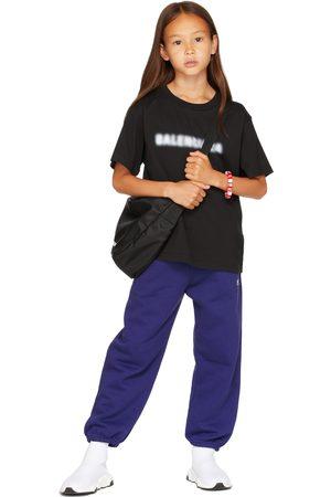 Balenciaga Kids Kids Black Blurry T-Shirt