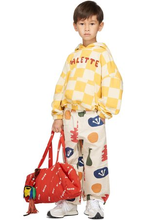 Jellymallow Kids Off-White Painting Jogger Trousers