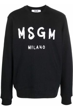 MSGM Maglione a girocollo con stampa