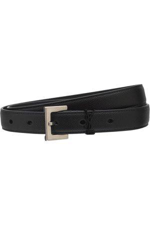 Saint Laurent Cintura In Pelle Stampa Lucertola 20mm