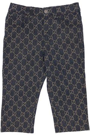 Gucci Jeans In Denim Di Cotone Organico Con Gg Jacquard