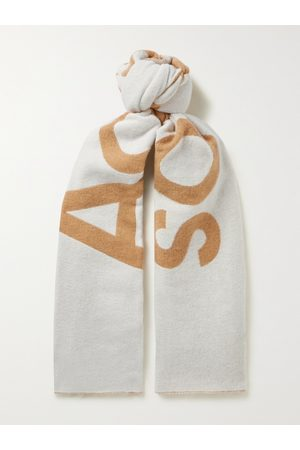 Acne Studios Uomo Sciarpe - Logo-Jacquard Wool-Blend Scarf