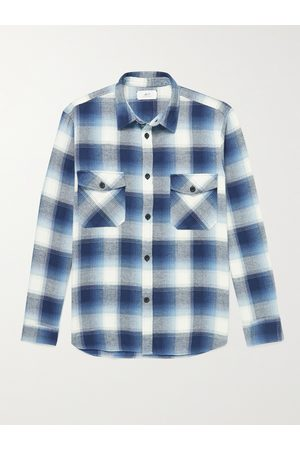Mr P. Uomo Casual - Checked Cotton-Flannel Shirt