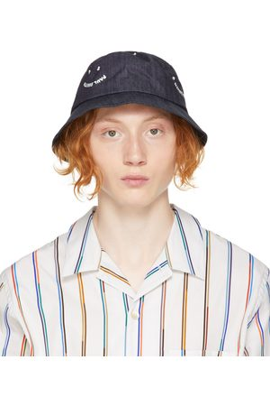 PS by Paul Smith Navy Denim 'PS' Smile Bucket Hat