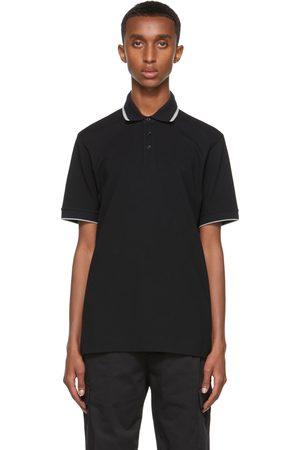 Z Zegna Uomo Polo - Black Stretch Cotton Piquet Short-Sleeve Polo
