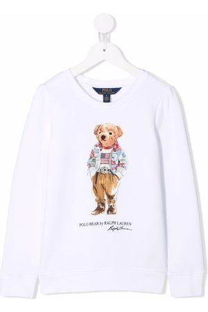 Ralph Lauren Kids T-shirt Polo Bear con stampa