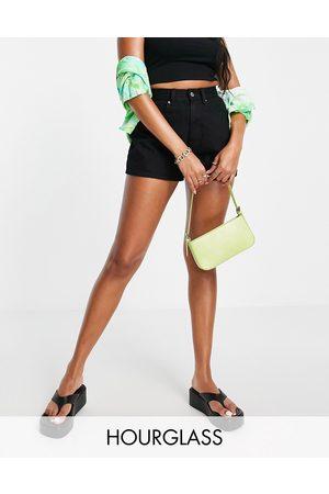 ASOS DESIGN Hourglass - Mom shorts di jeans a vita alta stile anni '80, colore