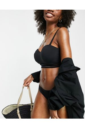 Figleaves Coppe Grandi - Top bikini a fascia con ferretto