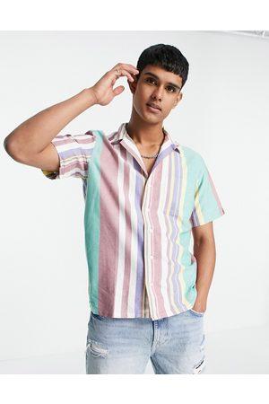 Polo Ralph Lauren Camicia Oxford classica a maniche corte con colletto aperto vestibilità oversize a righe