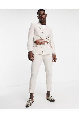 ASOS DESIGN Pantaloni da abito grigi affusolati-Neutro