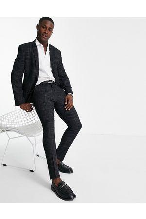 ASOS Pantaloni da abito skinny in crosshatch