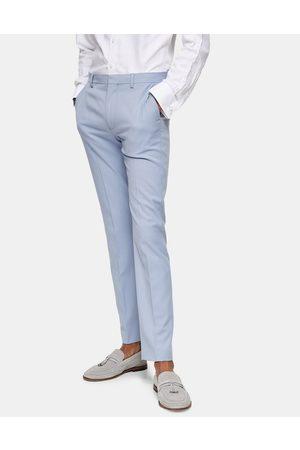 Topman Pantaloni skinny da abito azzurri