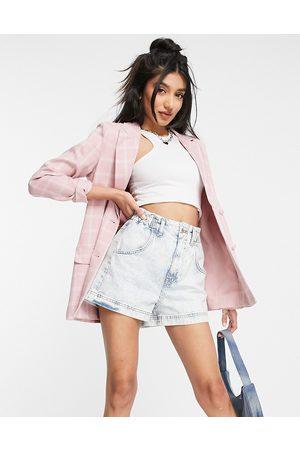 In The Style X Billie Faiers - Vestito blazer con stampa a quadri, colore multicolore