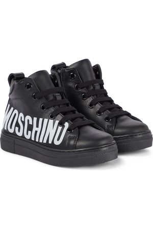 Moschino Kids Sneakers in pelle con logo
