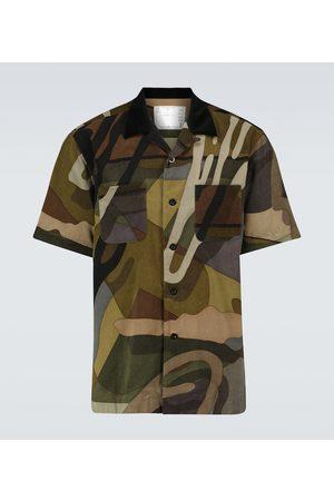 SACAI X KAWS - Camicia in cotone con stampa