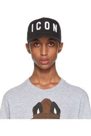 Dsquared2 Uomo Cappelli con visiera - Black & White 'Icon' Baseball Cap