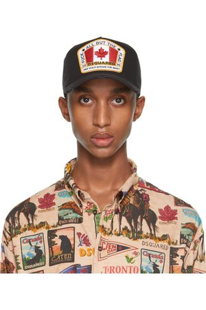 Dsquared2 Black Embroidered Patch Baseball Cap