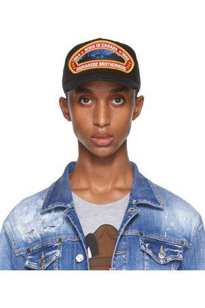 Dsquared2 Black 'Born In Canada' Patch Cap