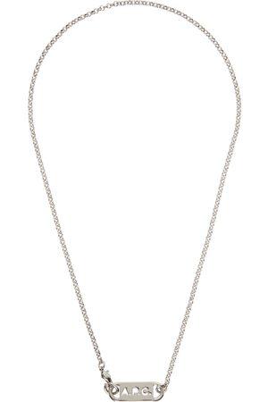 A.P.C. Silver Hugo Necklace