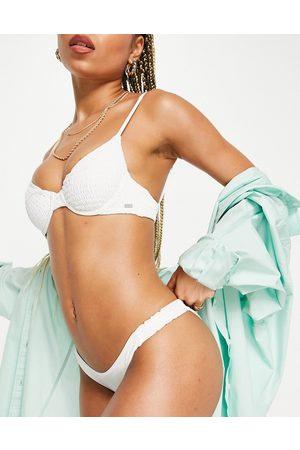 Pull&Bear Top bikini arricciato bianco