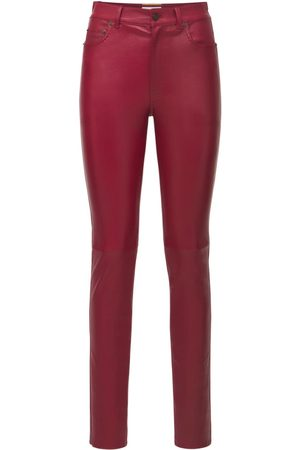 SAINT LAURENT Pantaloni Skinny In Pelle