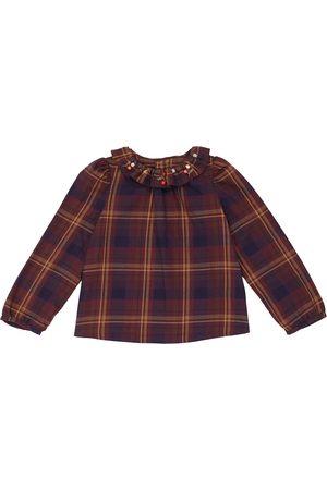 BONPOINT Blusa in cotone a quadri