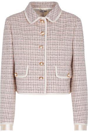Miu Miu Giacca in tweed di lana e cotone
