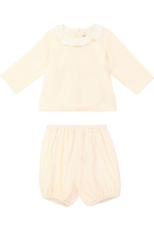 BONPOINT Baby - Blusa e culottes Thairys in velluto