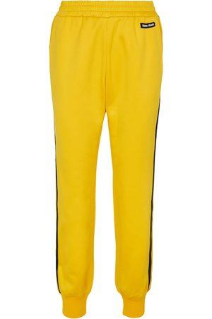 Miu Miu Pantaloni sportivi in misto cotone