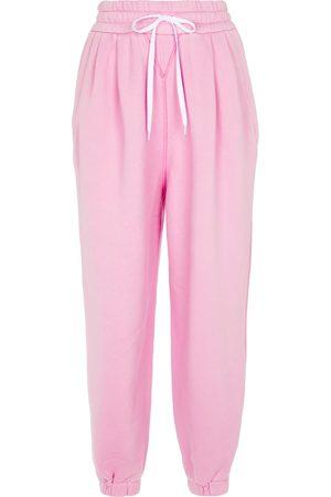 Miu Miu Pantaloni sportivi in cotone