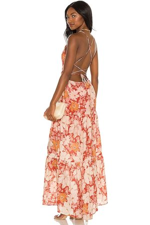 Minkpink Azar Open Back Maxi Dress in - Red. Size L (also in S, XS, M).