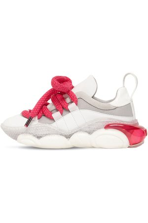 Moschino Sneakers Teddy In Pelle E Mesh 30mm