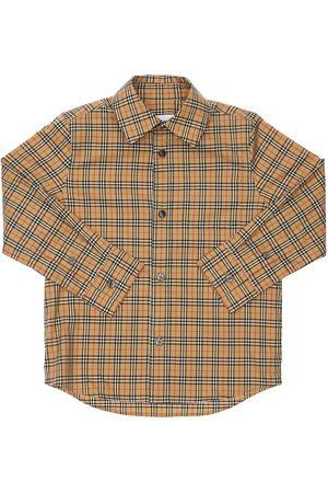 BURBERRY Bambino Camicie - Camicia In Popeline Di Cotone Check