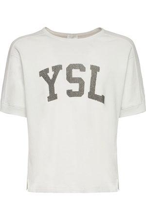 Saint Laurent T-shirt In Cotone Stampa Logo