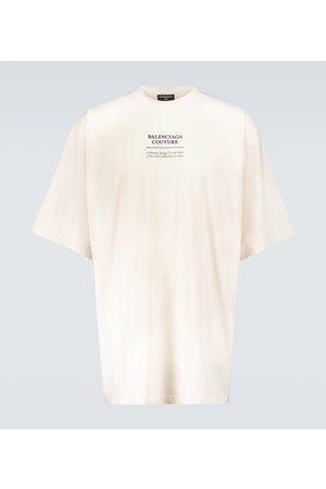 Balenciaga T-shirt boxy fit in misto cotone