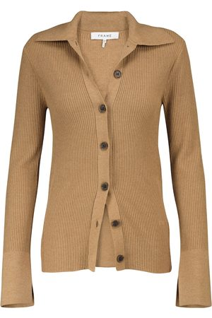 Frame Cardigan in misto cotone a coste