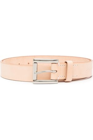 Yohji Yamamoto Uomo Cinture - Cintura con logo goffrato - Toni neutri