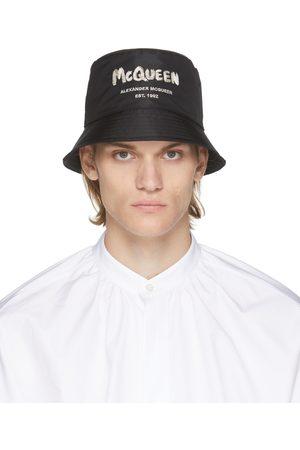 Alexander McQueen Black Graffiti Bucket Hat