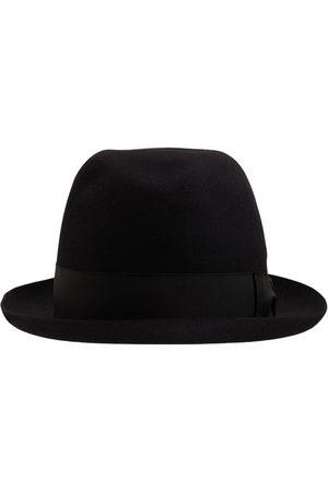 Borsalino Uomo Cappelli - Cappello Alessandria In Feltro Con Fascia In Raso
