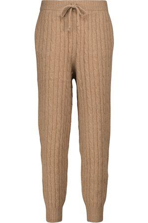 Polo Ralph Lauren Donna Eleganti - Pantaloni sportivi in lana e cashmere a trecce