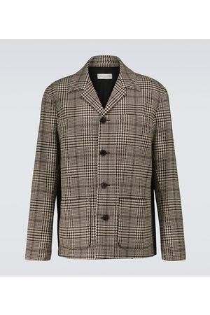 Dries Van Noten Giacca in lana e cotone a quadri