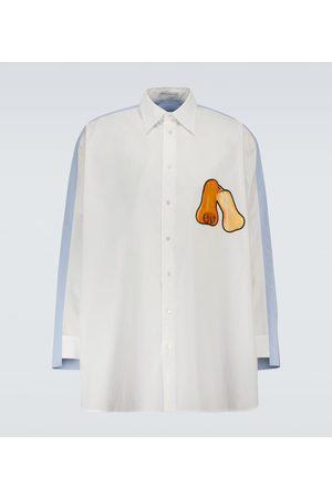 J.W.Anderson Camicia oversize in cotone con stampa