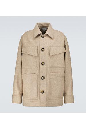 Bottega Veneta Cappotto militare in lana