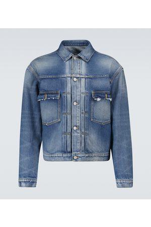 Maison Margiela Giacca di jeans effetto vissuto
