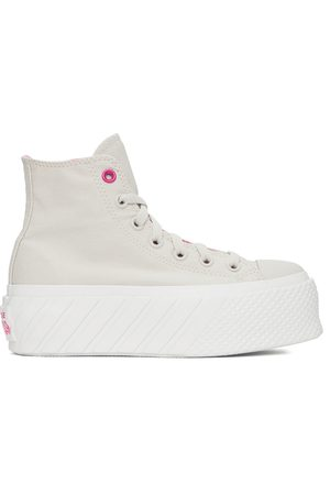 Converse Donna Sneakers - Beige Chuck Taylor All Star Lift Ripple High Sneakers